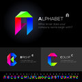 Vector alphabet set use as design elements eps image Royalty Free Stock Image