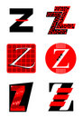 Vector alphabet Z logos and icons Royalty Free Stock Photo