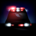 Vector ambulance abstract illustration of an with sirenes Royalty Free Stock Images