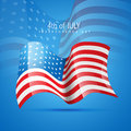 Vector america flag Stock Photography