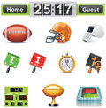 Vector American football / gridiron icon set. Part Stock Photos