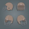 Vector american football helmet helmets retro color style Royalty Free Stock Image
