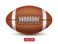 Vector American Football or Rugby ball isolated over a white background Royalty Free Stock Photo