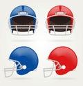 Vector American football. Set Football Helmets