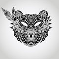 Vector american indian mask of Bear Royalty Free Stock Photo