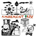 Vector amusement park illustration of a Royalty Free Stock Photos