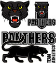 Vector angry black panther sport emblem