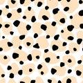 Vector animal skin texture print seamless pattern