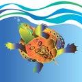 Vector animal turtle illustration reptile cartoon