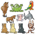 Vector animals 2 Royalty Free Stock Photos