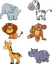 Vector animals set Royalty Free Stock Photo