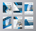 Vector annual report brochure flyer design template Royalty Free Stock Photo