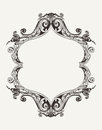 Vector antique vintage royal frame Royalty Free Stock Images