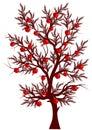 Vector Apple Tree Royalty Free Stock Photo