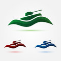 Vector army or military tank icon abstract Royalty Free Stock Image