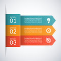 Vector arrow business infographic template. Royalty Free Stock Photo