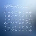 Vector arrows icon set on background Stock Image