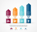 Vector arrows infographic. Template for diagram Royalty Free Stock Photo