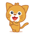 Vector art of cat character