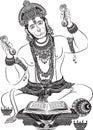 vector art of Jai hanuman for card