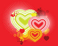 Vector art love backround artwork Royalty Free Stock Images