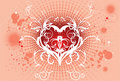 Vector art love backround artwork Royalty Free Stock Photo