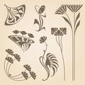 Vector art nouveau elements. Royalty Free Stock Photo