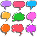 Vector art of text balloon colorful