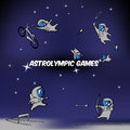 Vector astro olympic games illustration of Royalty Free Stock Images