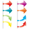 Vector attachable arrows Royalty Free Stock Photo