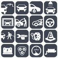 Vector auto car and mechanic icons set.car part set of repair icon vector illustration.Car service maintenance icon