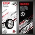 Grunge Tire Banner set 012