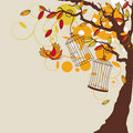 Vector autumn background Stock Photography