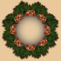 Vector autumn holiday frame with acorns and leaves Royalty Free Stock Photo