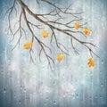 Vector autumn rain weather artistic natural design