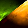 Vector autumn seasonal background dark green and orange design eps Royalty Free Stock Image