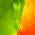 Vector autumn seasonal background green and orange design eps Royalty Free Stock Image