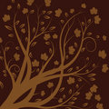 Vector autumn tree Stock Images