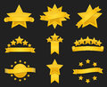 Vector award ribbon with gold star Royalty Free Stock Photo