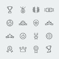 Vector awards icons set mini Royalty Free Stock Image