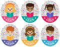 Vector Awesome Reading Kids Graphic Set