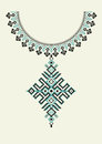 Vector aztec necklace Embroidery for fashion women. Pixel tribal pattern for print or web design. jewelry, necklace Royalty Free Stock Photo