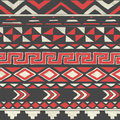 Vector Aztec Tribal Seamless Pattern on Crumpled Royalty Free Stock Photo