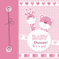 Vector baby girl scrapbook card Stock Photography