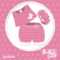 Vector baby girl scrapbook  card Royalty Free Stock Photography