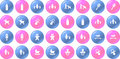 Vector baby items blue and pink button set Royalty Free Stock Photography