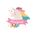 Vector baby unicorn Royalty Free Stock Photo