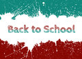 Vector Back to School Banner With Bright Ink Blue Blots Royalty Free Stock Photo