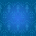 Vector background with anchor illustration Royalty Free Stock Photography