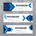 Vector background  banner Collection horizontal business set Royalty Free Stock Photo